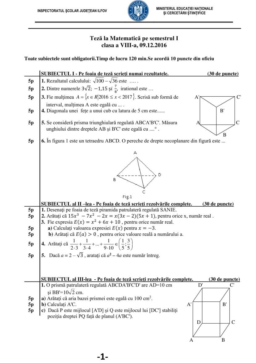 TEZA CU SUBIECT UNIC - SEMESTRUL I - CLASA A VIII-A.pdf-1